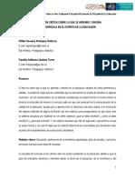 Valoración crítica sobre lo que se aprende y enseña del currículo en el espíritu de la educación (Universidad del Tolima)