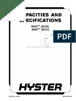 Capacidades y Especificaciones