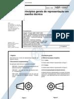 NBR 10067 - Principios gerais de representação de desenhos tecnicos