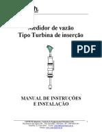 Manual Medidor de Vazao Tipo Roda d Agua de Insercao