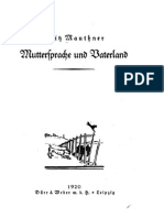Mauthner Muttersprache Und Vaterland 1920