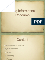 Unit III Drug Information Resources