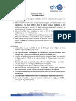 Recomendaciones, Plan Sanitario y Riesgos