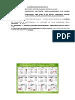 Calendario de Presentaciones