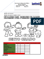 Examen de Sexto 1er Bloque Chiapas