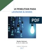 Kaidah Penelitian Pada Ekonomi & Bisnis