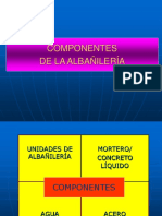 COMPONENTES ALBAÑILERIA