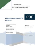 Rapport Droit Fiscal