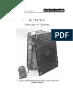El Texto II.tipología Textual
