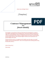Sample Contract Mgmt Plan