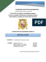 Destilacion Informe Final