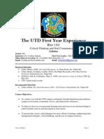 UT Dallas Syllabus for rhet1101.065.10f taught by Cynthia Jenkins (cdk018200)
