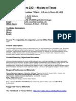 UT Dallas Syllabus for hist2301.501.10f taught by Keith Volanto (kjv062000)