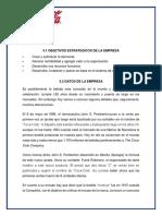 4.1 Objetivos Estrategicos de La Empresa