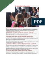 Los Consejos de Juventud en Colombia
