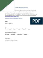 Conflict Management Survey Version 2