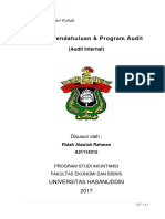 RMK Audit Internal - Survey Pendahuluan & Program Audit
