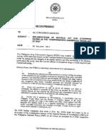Memorandum from the President