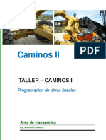 08 Taller - Programacion de Obras Lineales