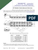 Modular TrailerHydraulic Multi Axle Chinaheavylift