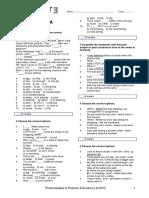 LB3 Diagnostic Test A