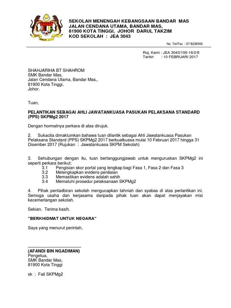 Surat Lantikan Skpmg2 Docx
