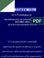 ISO 9001 General Awareness