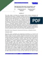 The Relationship Between Strategic Management and Organizational Performance in Mogadishu Somalia