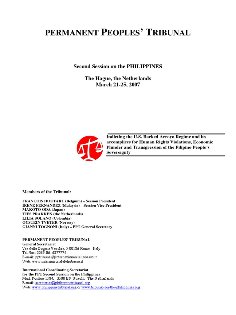 Verdict permanent peoples tribunal trade union privatization malvernweather Gallery
