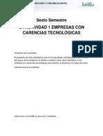 u1 Actividad 1 Empresas Con Carencias Tecnológicas