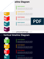 Vertical Timeline Cubes Diagram PGo