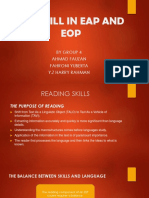 The Skill in Eap and Eop