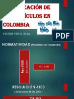 Clasificación de Los Vehículos en Colombia 2