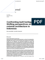 Confronting Built Heritage- Shifting Perspectives on Colonial Architecture in Indonesia