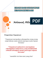 PERAN ORGANISASI MAHASISWA
