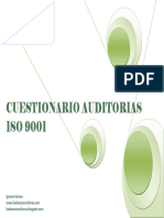 Check List Cuestionario Auditoria 9001