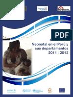 Mortalidad Neonatal en El Peru y Sus Departamentos 2011 2012