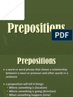 Prepositions Ppt