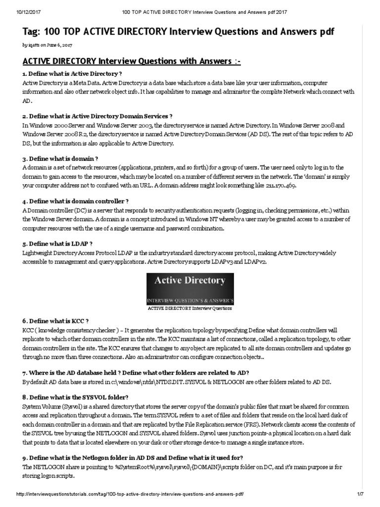 active directory resume - Active Directory Resume