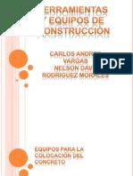 materiales parala colocaciOn del concreto y herramientas de construcciOn