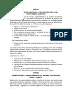 Comentario y Opinion COSO 2013 y NIAS.