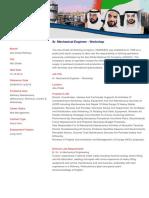 Data Overview - Sr. Mechanical Engineer - Workshop
