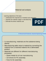 Material Cost Analysis