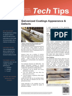 Tech Tips 26 Galvanized Coating Appearance Defects