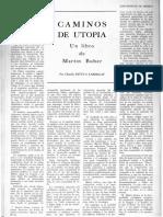 Caminos de Utopía Un Libro de Buber