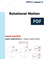 PHY11 Lesson 4 Rotational Motion