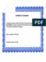Protecting Human Research Participants (IRB) Certification