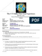 UT Dallas Syllabus for rhet1101.047.10f taught by Christopher Burk (crb012000)