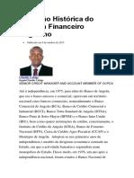 Evolução Histórica Do Sistema Financeiro Angolano