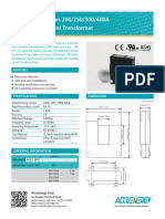 AcuCT Split Core 5A 1A Output Current Tranformer Brochure